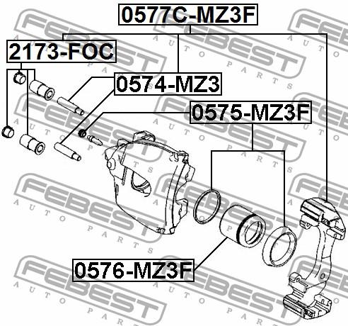пыльник для суппорта переднего ford s-max